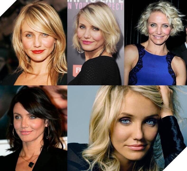 Cameron Diaz, forever beautiful suits just about any look.
