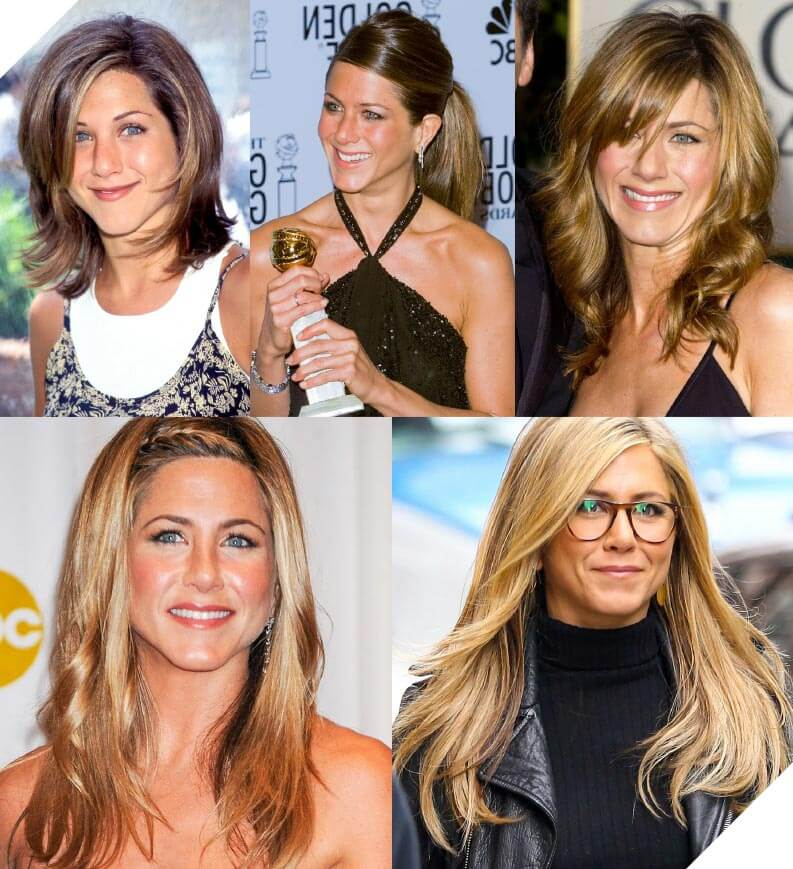 Jenifer Aniston is well known for her hair styles over the decades.