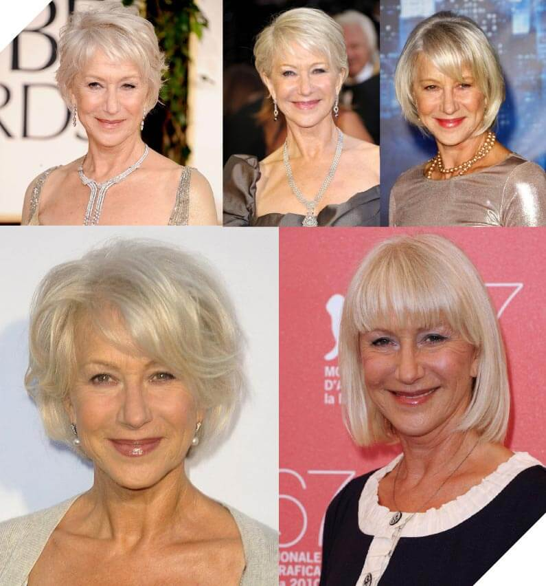 Helen Mirren classy and mature lady who is always changing things up.
