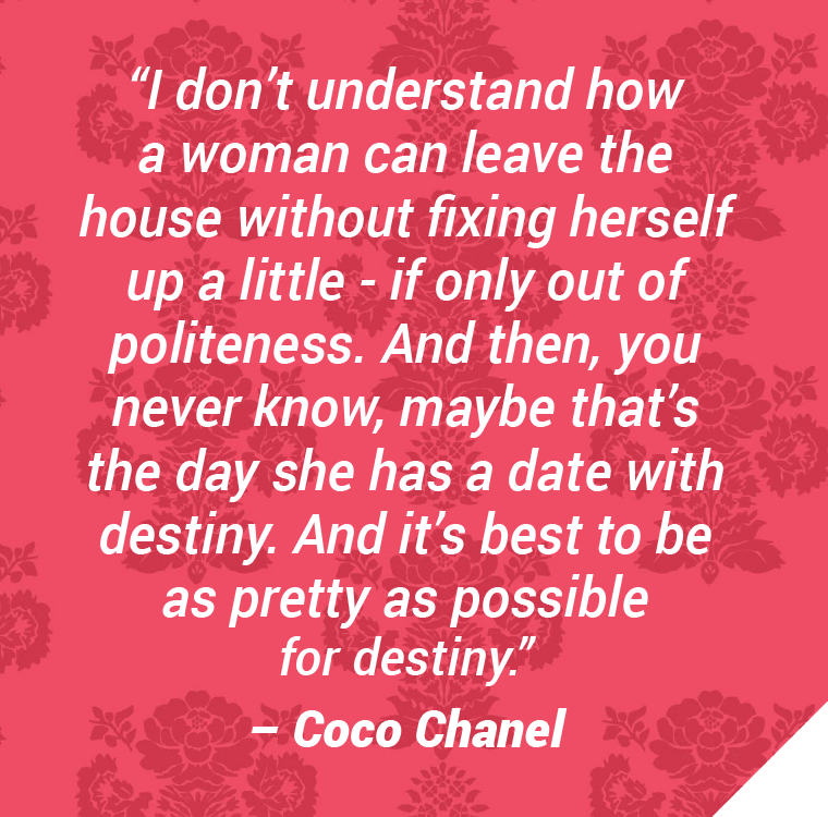 V for hair and beauty, Change is good, Coco chanel