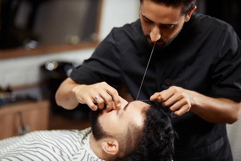 Threading men V for Hair & Beauty, Merivale