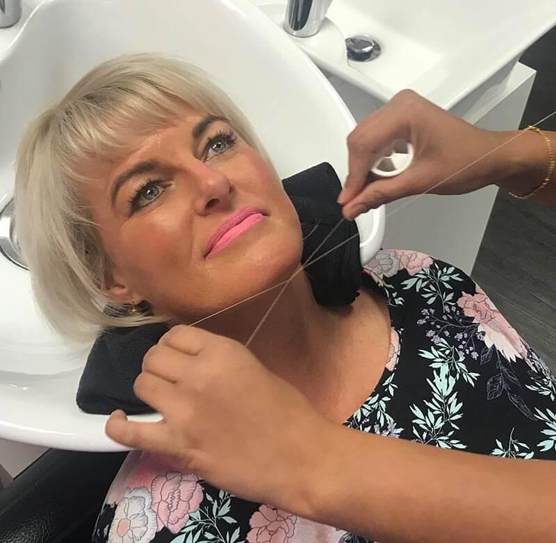 Threading on Vicki. V for Hair & Beauty Merivale