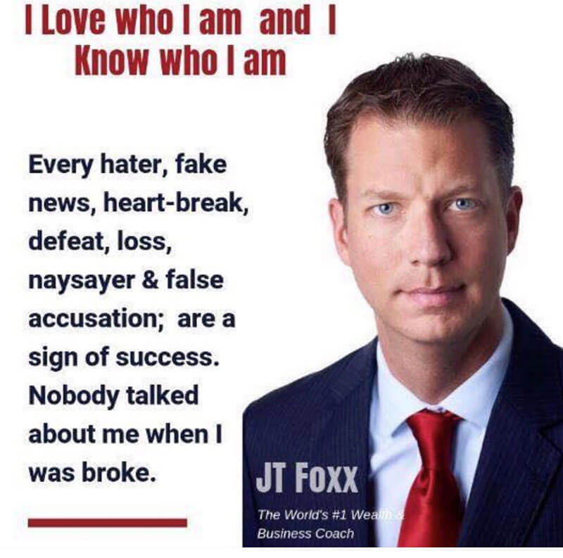 """This quote from JT Foxx I think is so true. When people are criticising you or talking about you in a bad way quite often it is """"Tall Poppy Syndrome""""."""