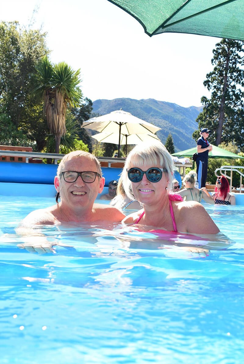 Vicki and Mike at the hot pools