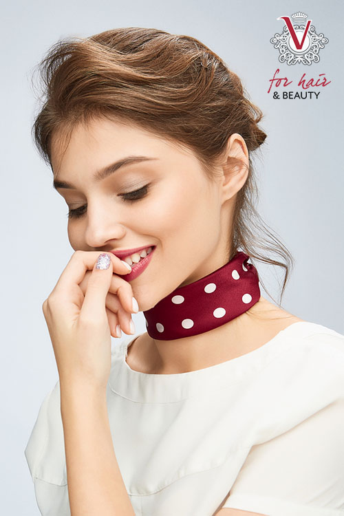 On trend neck scarves V For Hair and Beauty Merivale