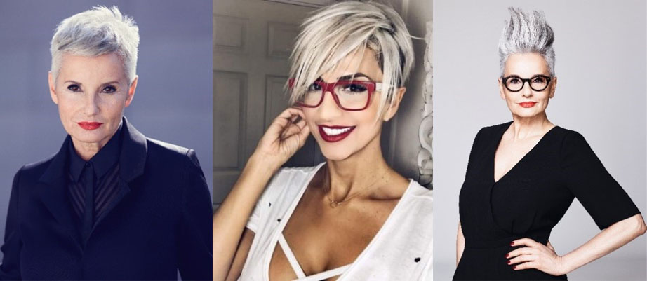 Edgy on trend silver hair