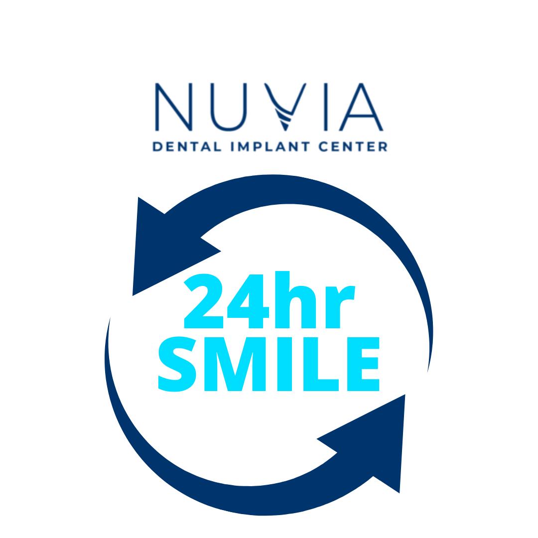 Nuvia Dental Implant Center 24hr Smile Graphic