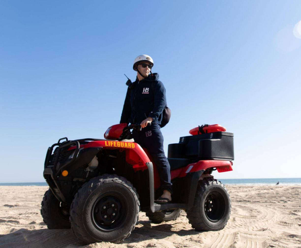 4 by 4 rescue vehicle on the beach