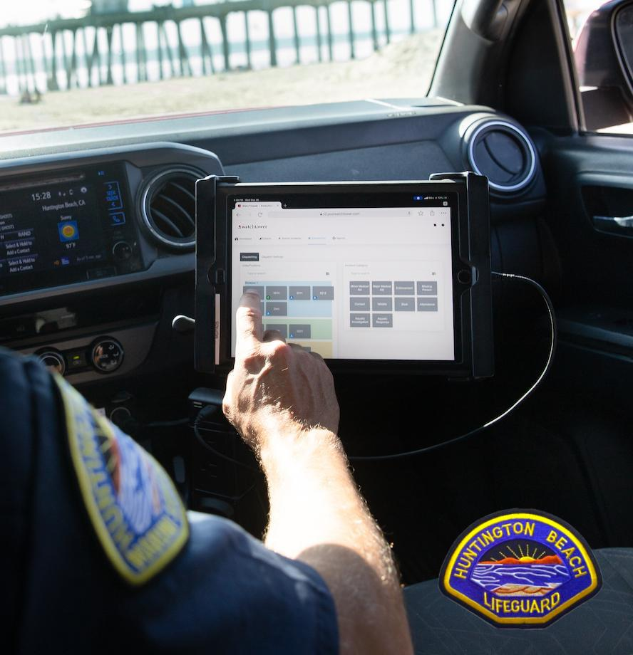 Huntington Beach Case Study Guard In Truck Inputting Incident