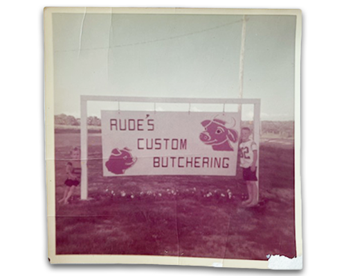 Picture of Old Sign - Rude's Custom Butchering