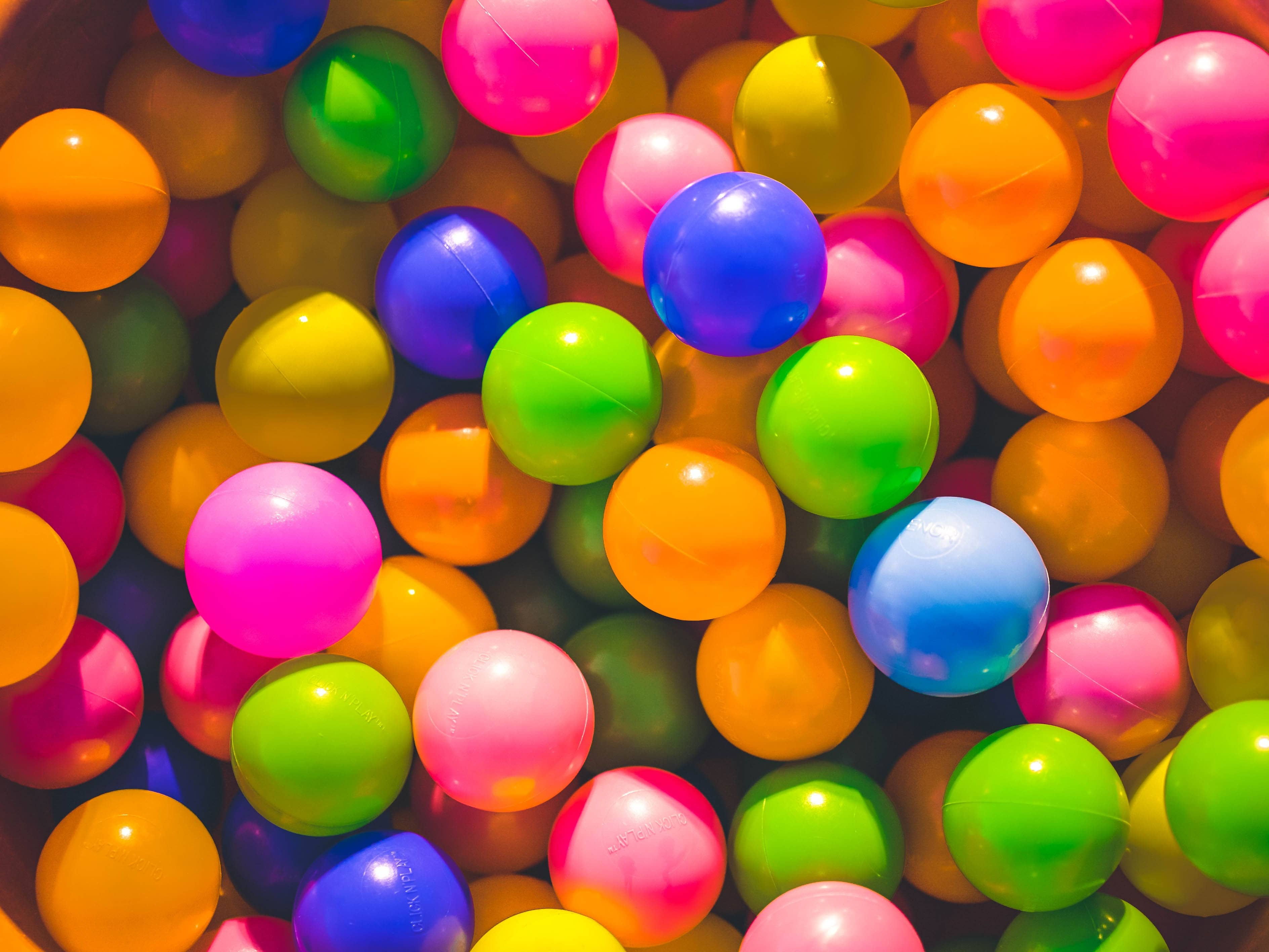 Lots of colored balloons