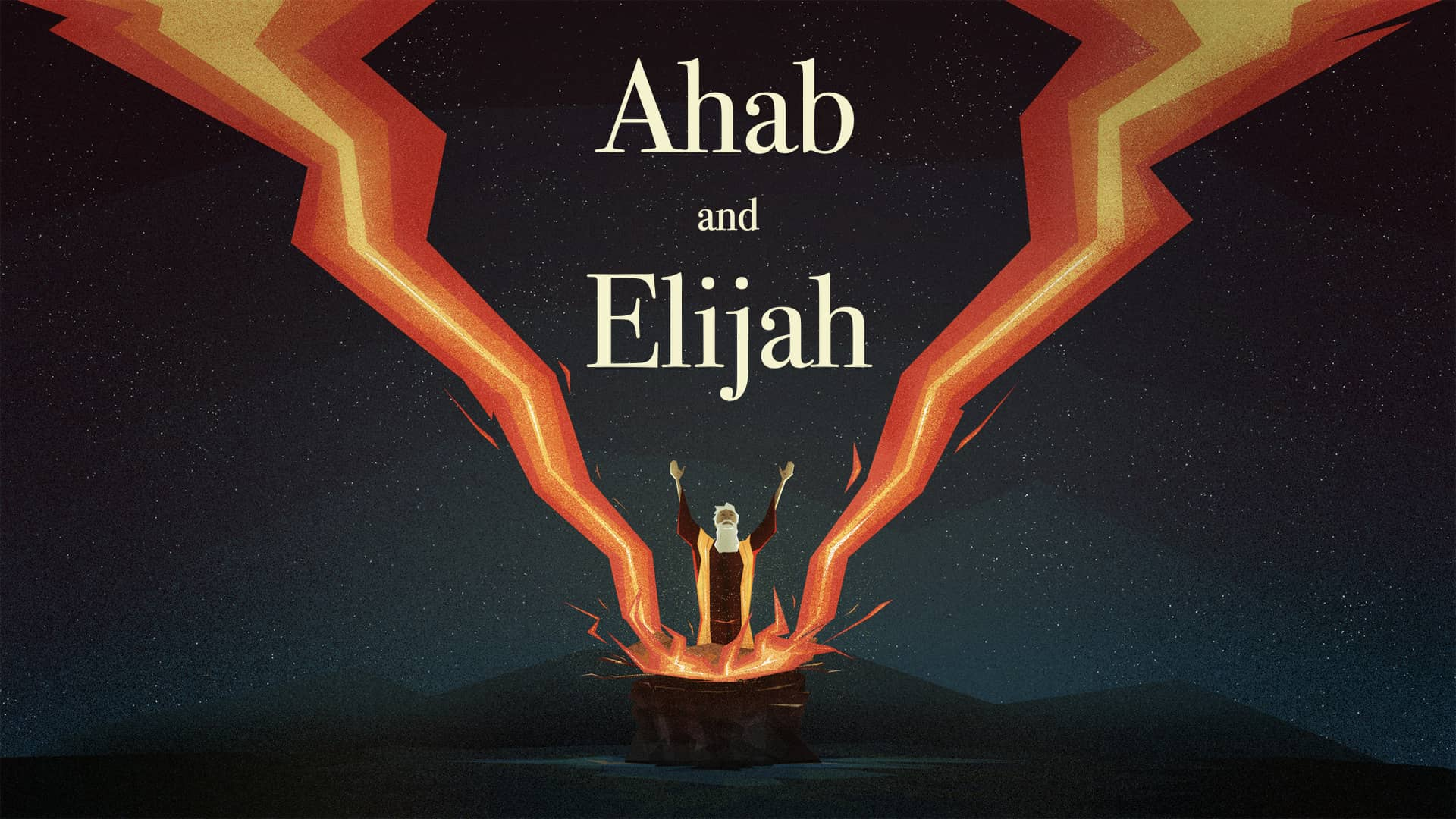 A artistic portrayal of Elijah and the altar