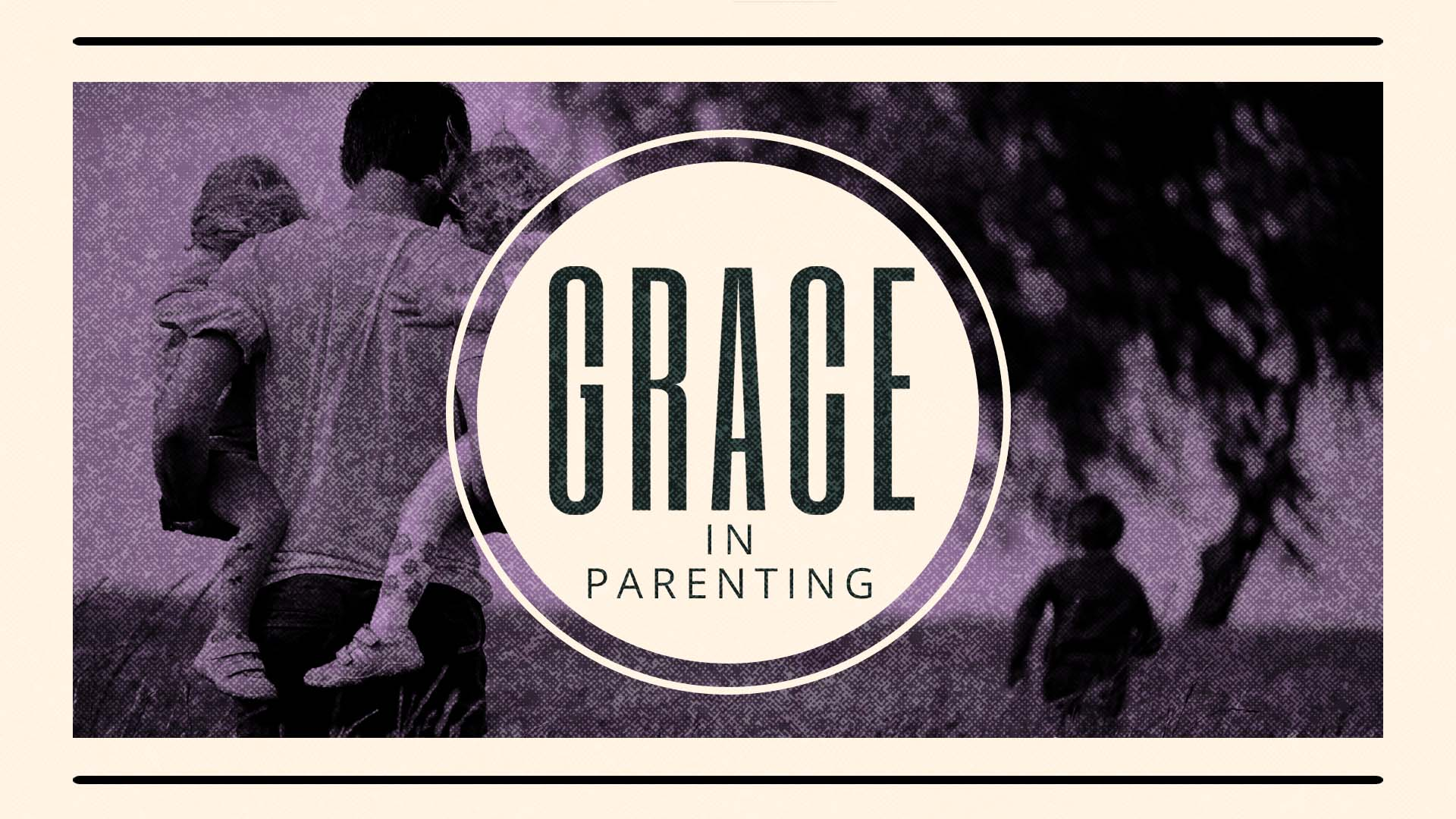 The word grace in bold lettering on a photo background