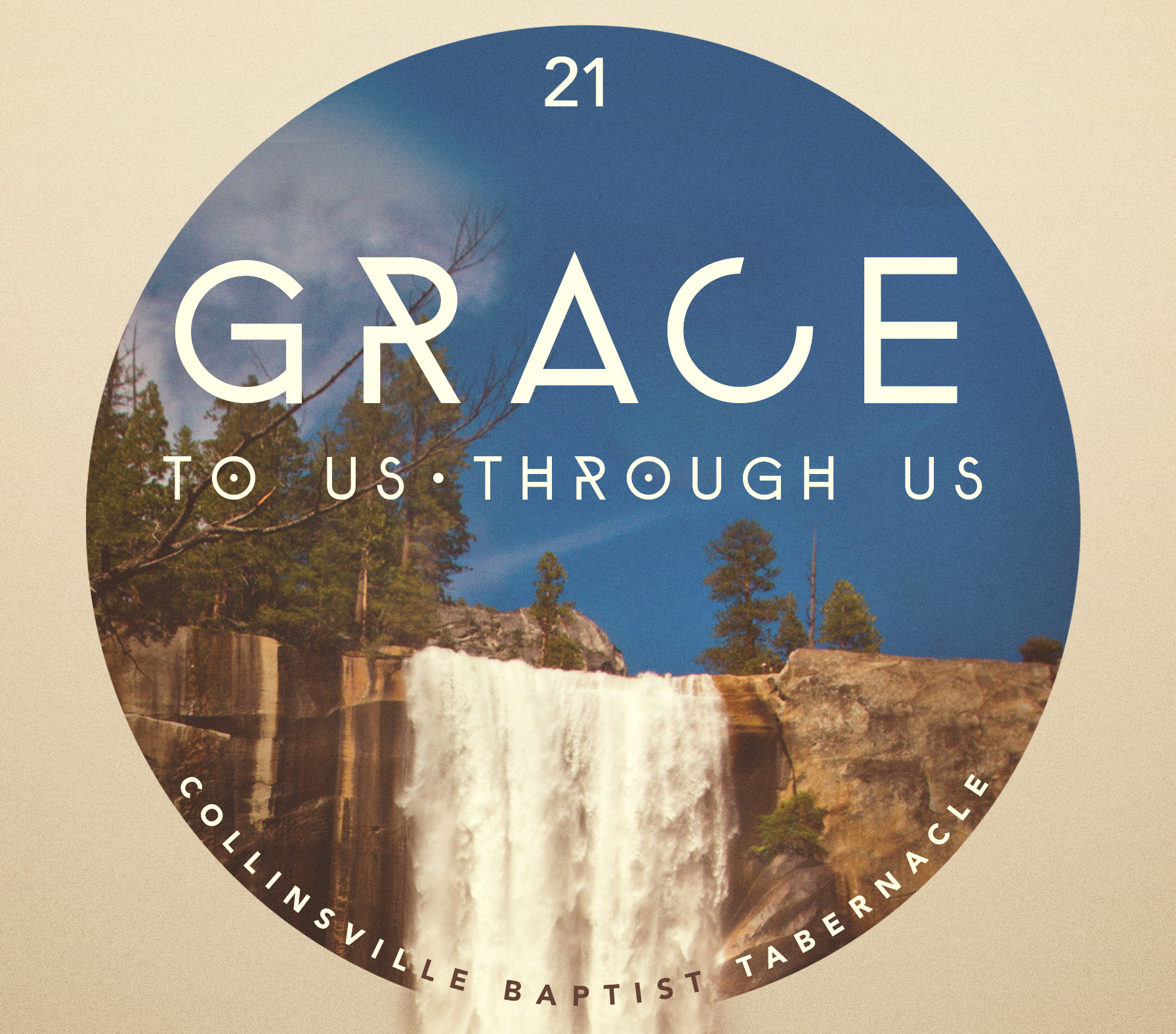 Grace Badge on Tan background