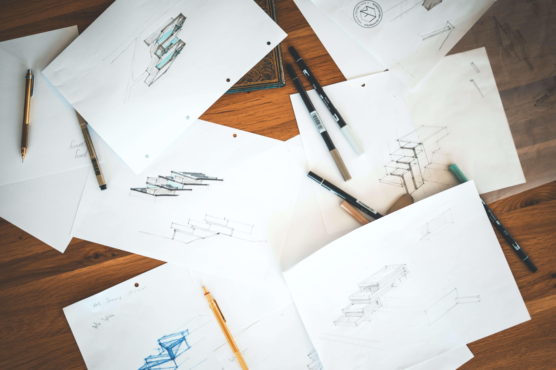 Sketching for logo design Epoxy Flooring Legends Digital Marketing