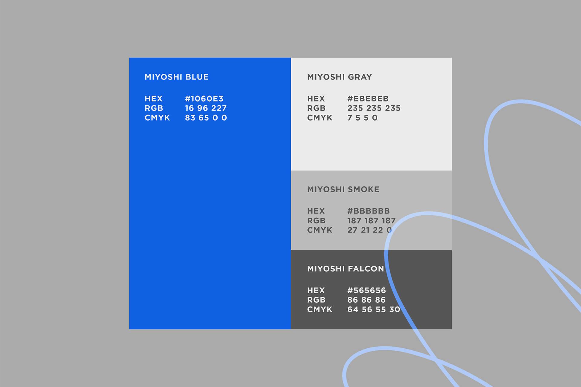 Miyoshi Koffee Brand Color Palette