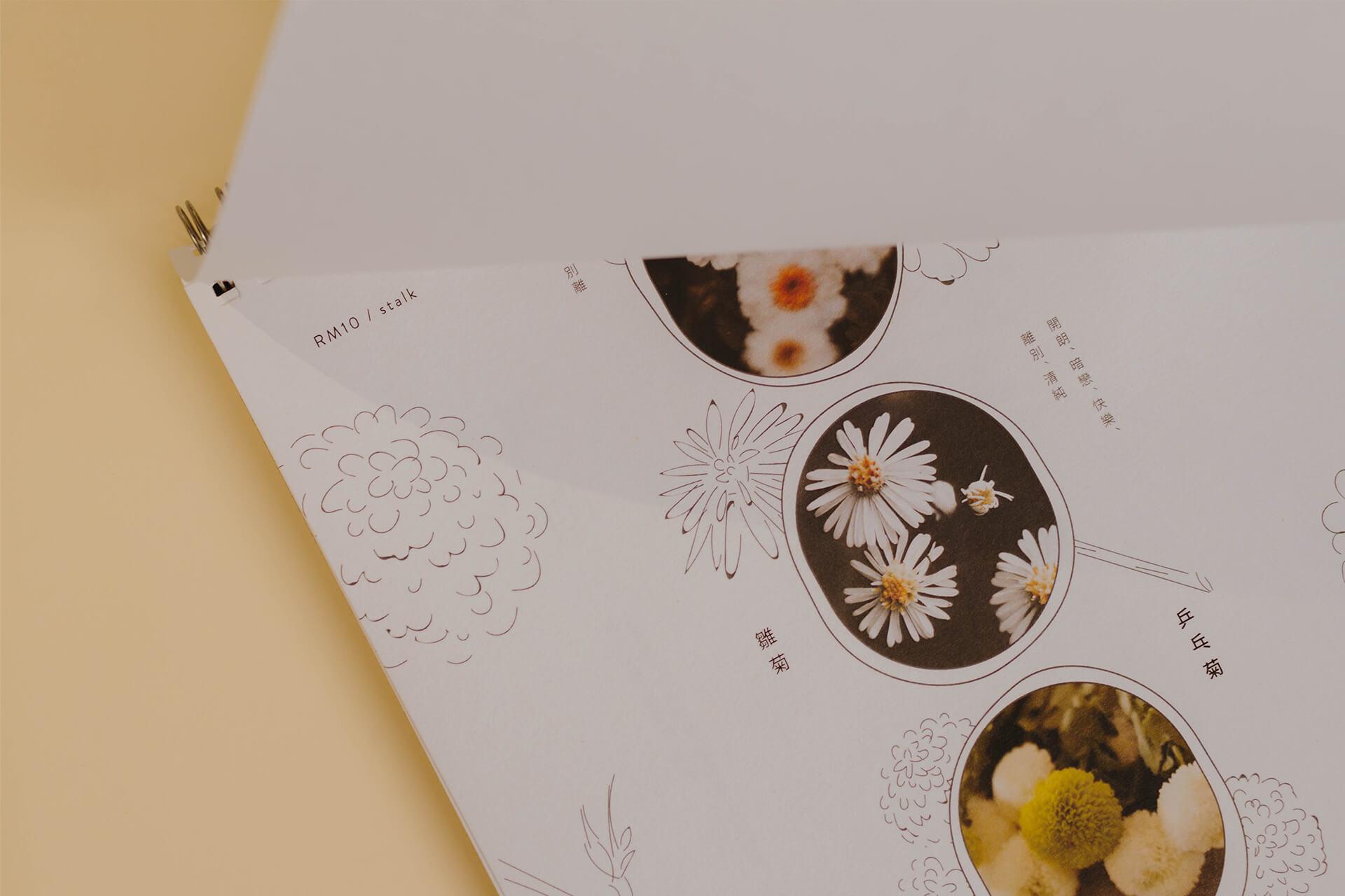 Floral Talk Menu Design