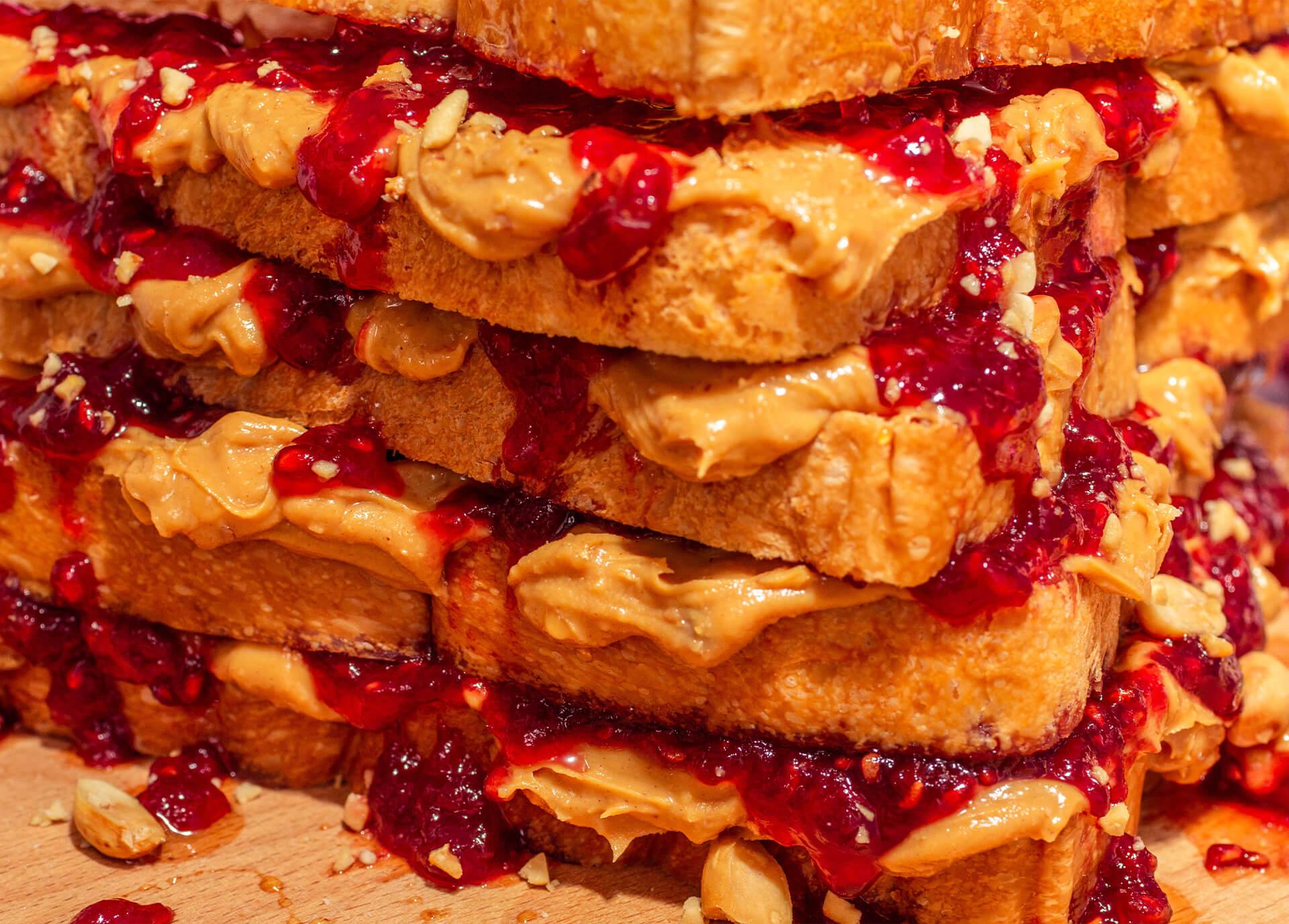 Peanut Butter Jelly close up shot