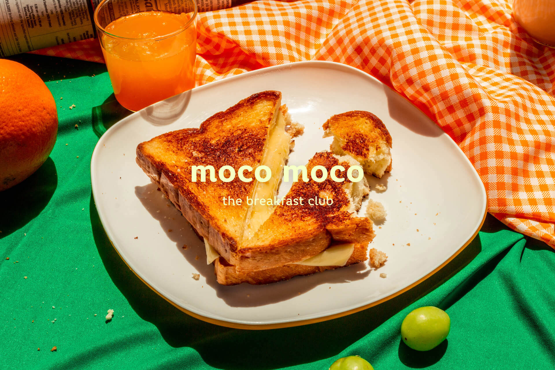 Moco Moco is a food photography passion project for a breakfast toast brand. We want to portray a busy, messy morning breakfast scenario. The art direction focus on bringing the early morning vibe with vibrant colours and a picnic mood.