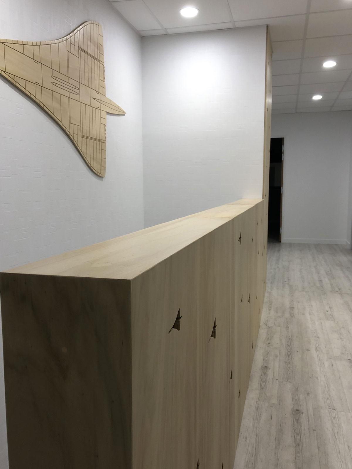 Habillage bureau Lamré Studio Trigone