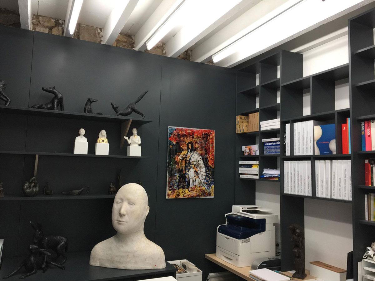 Bureaux Galerie Gilbert Dufois Studio Trigone