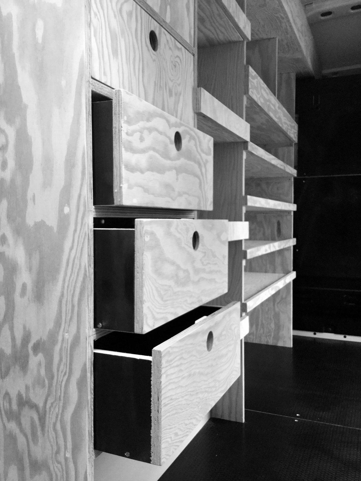 mobilier sur mesure Gaz Service 45 Studio Trigone