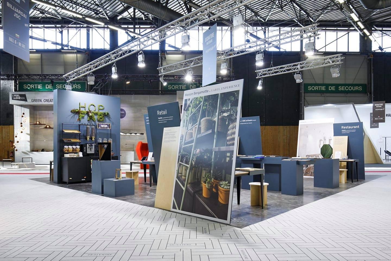 Fabrication du stand Hop Fab pour Maison & Objet Studio Trigone