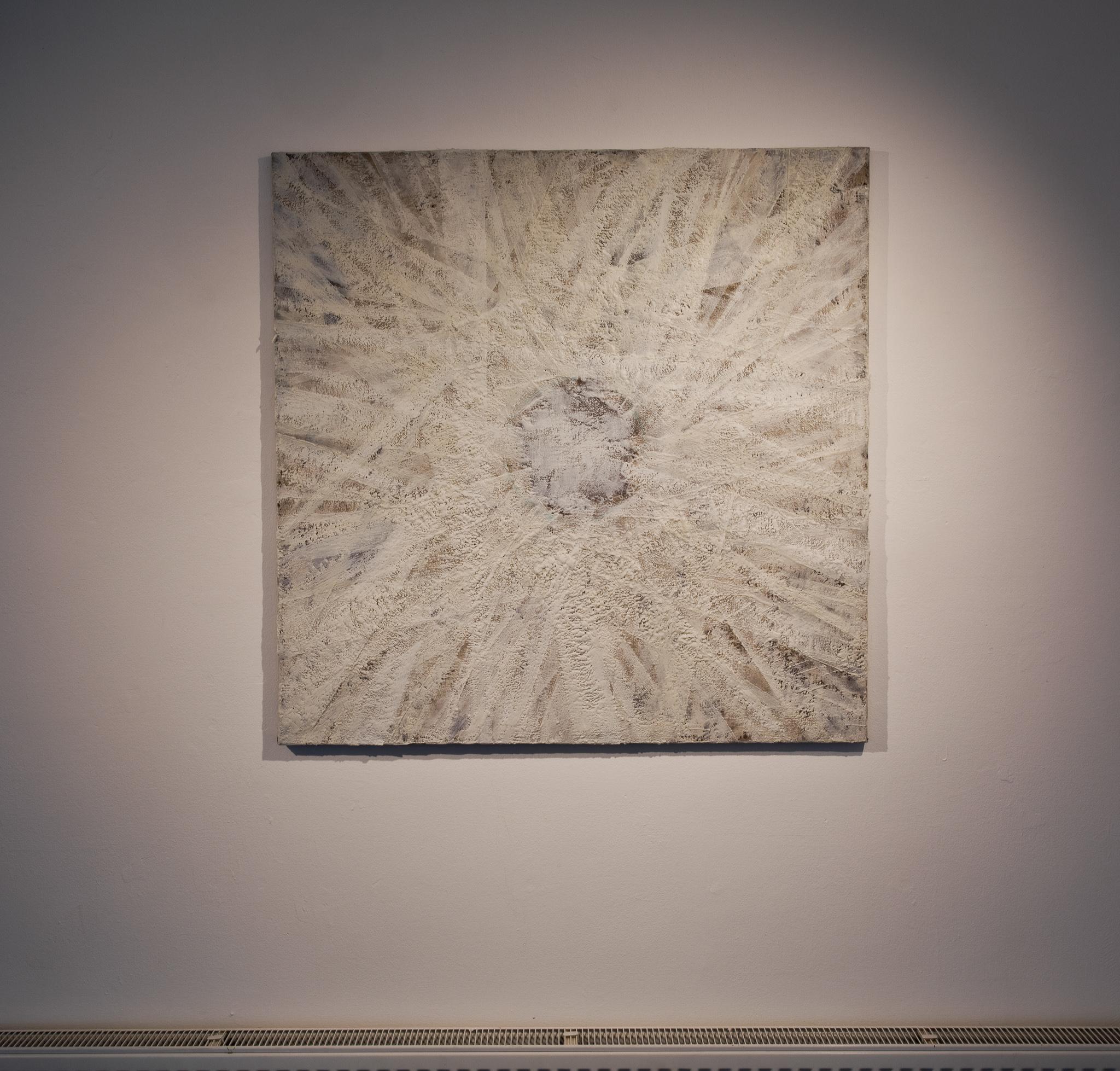 Helen Comerford, Post 19, II, 2021 - Encaustic painting on linen - 100x100cm - €4,000