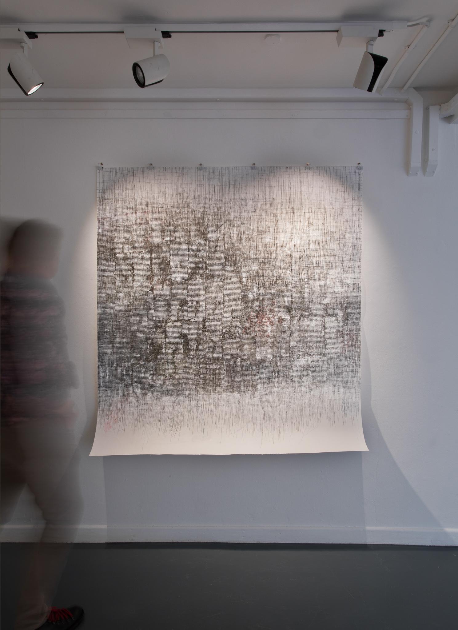 Gerda Teljeur, Cocooning, 2020, Ink on paper - 170x159cm - €5,000
