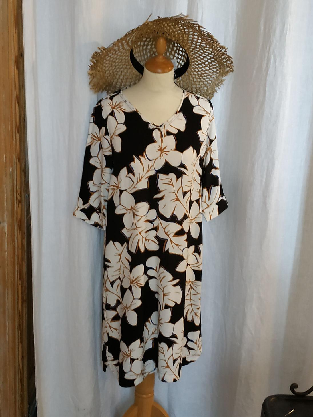 Robe viscose Hawaï