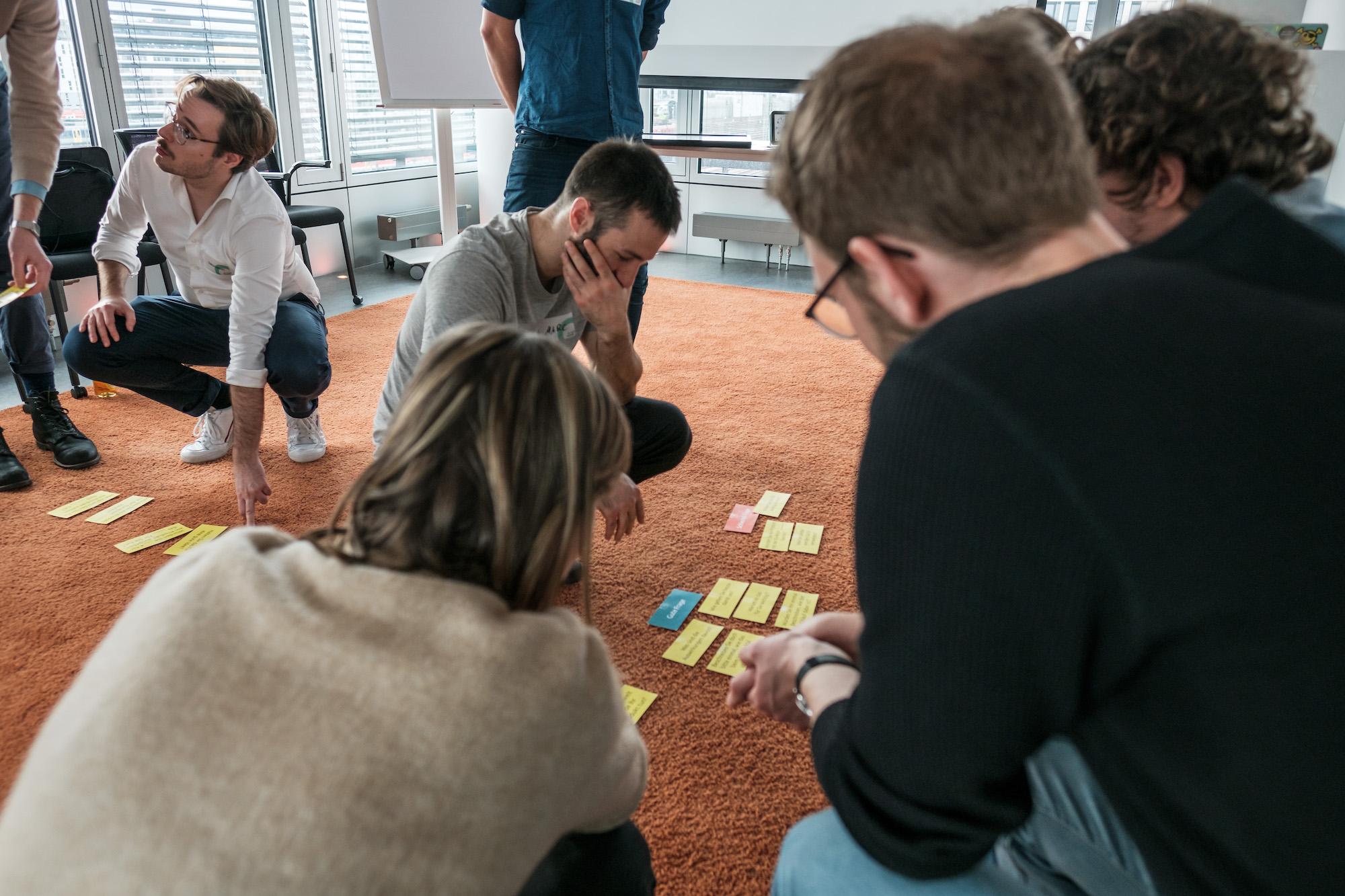 Die Productsquads während eines Workshops