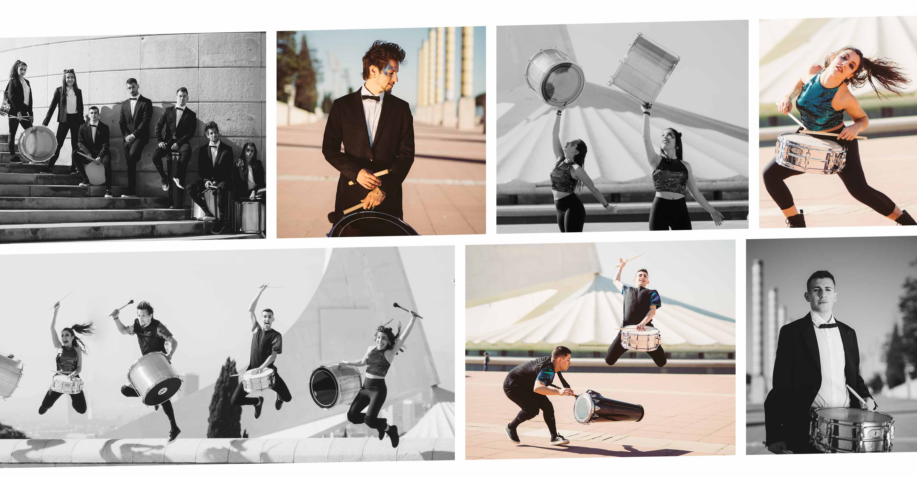 Collage de fotos de Nexart Percussion en Barcelona