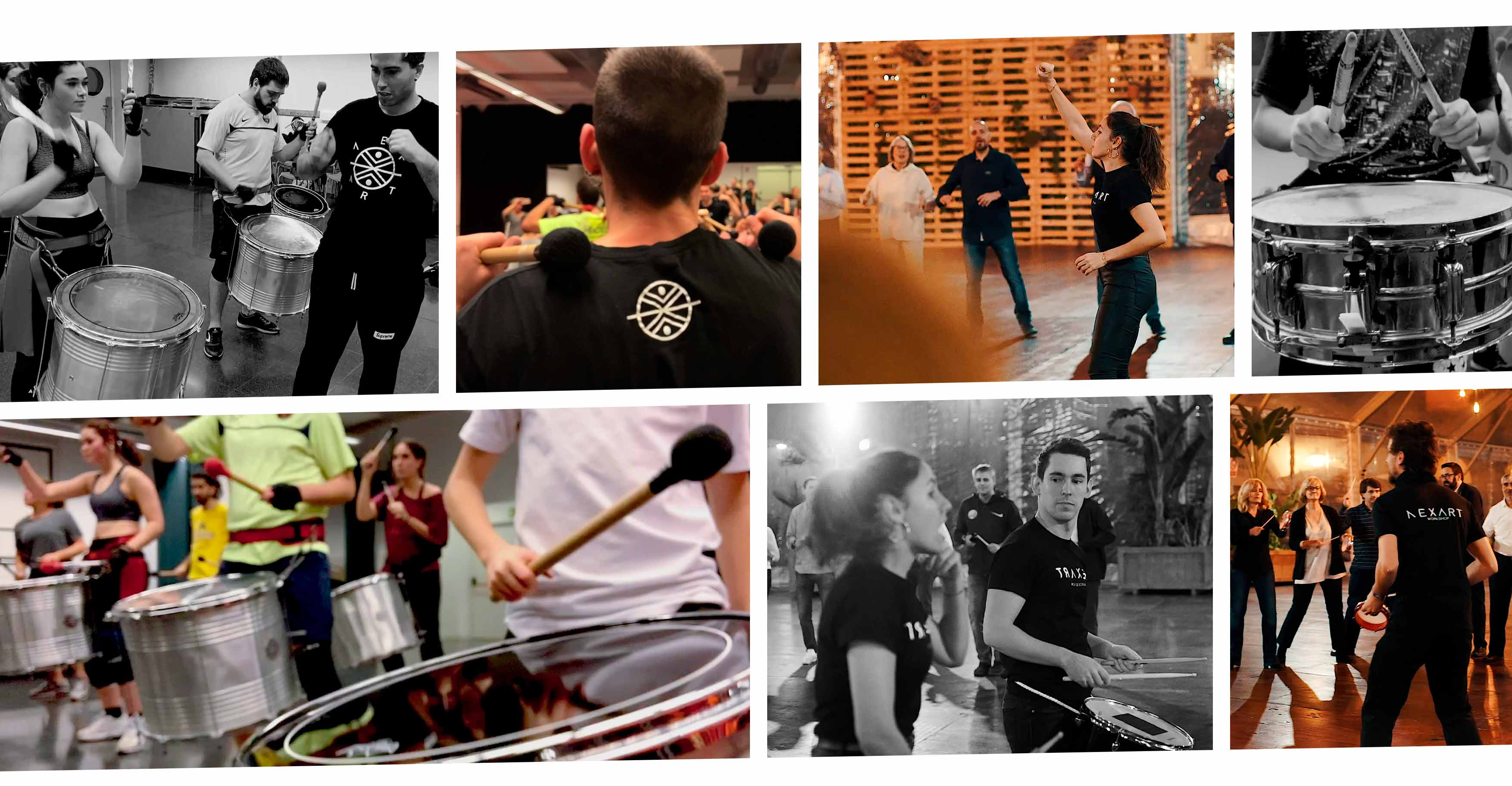 Collage de fotos de Nexart Percussion Formación