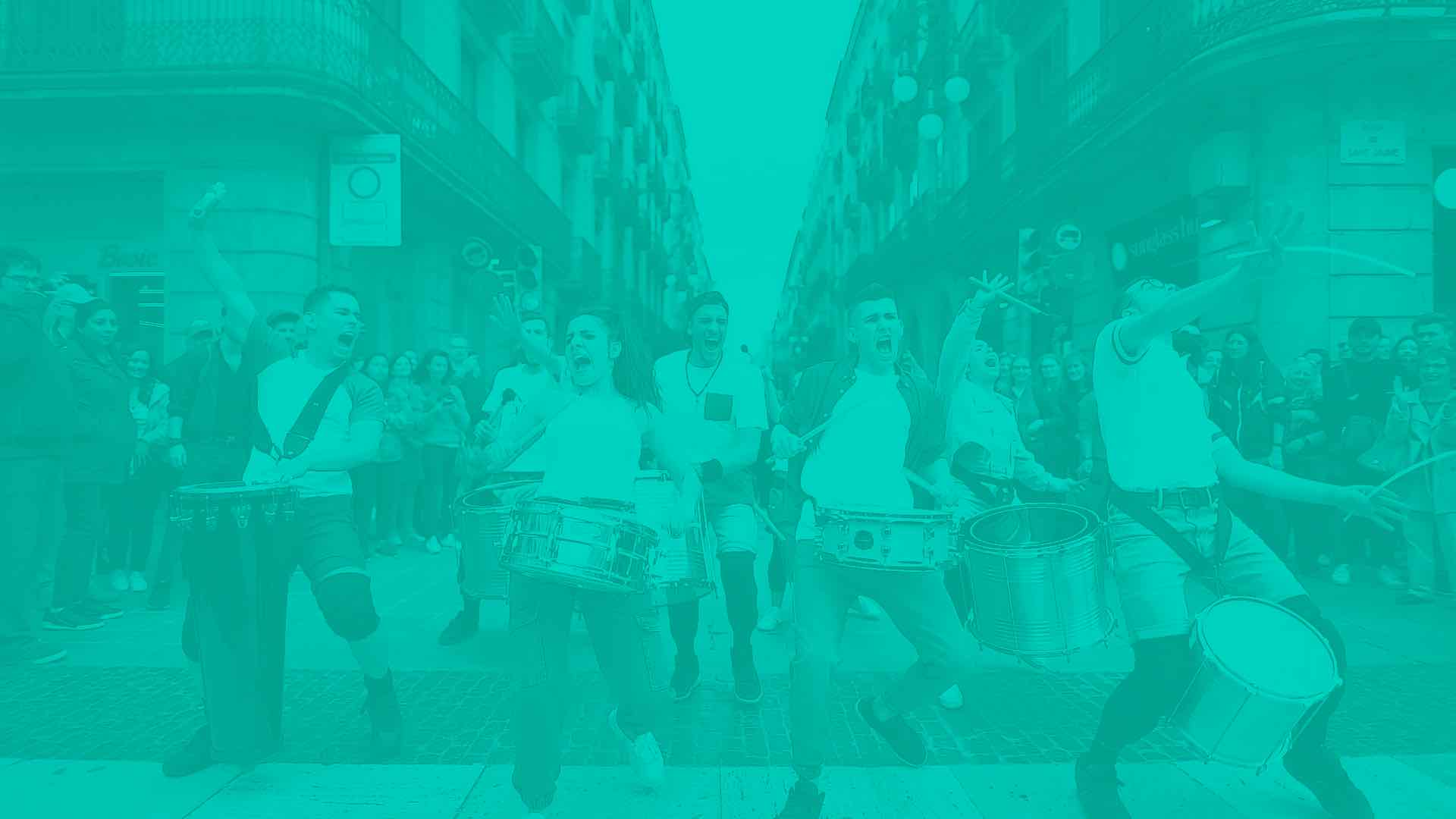 Espectáculo de Nexart Percussion en Barcelona