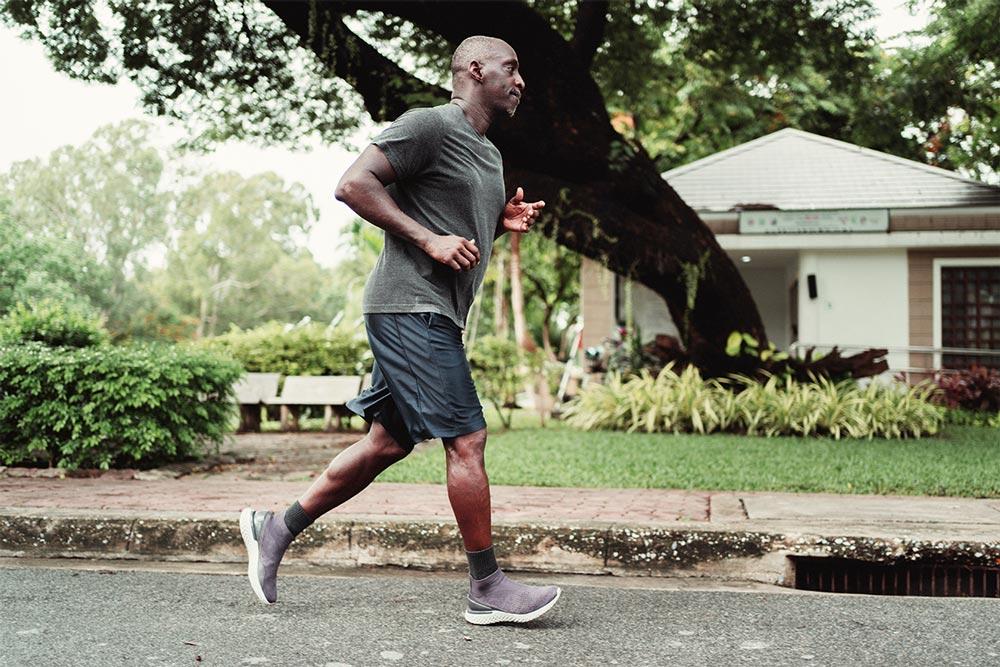 Man goes on a run