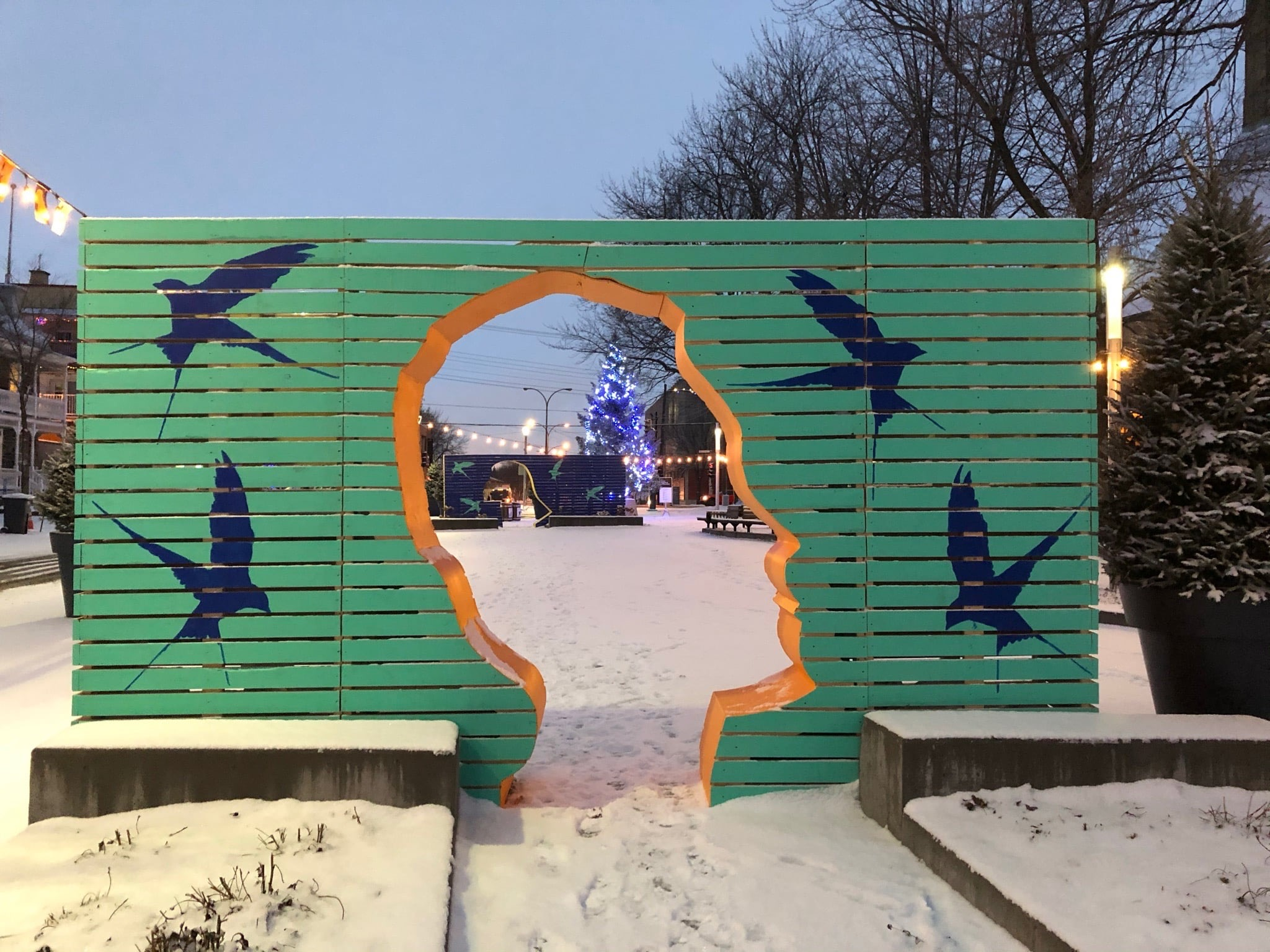 L'installation Jardins des Espoirs