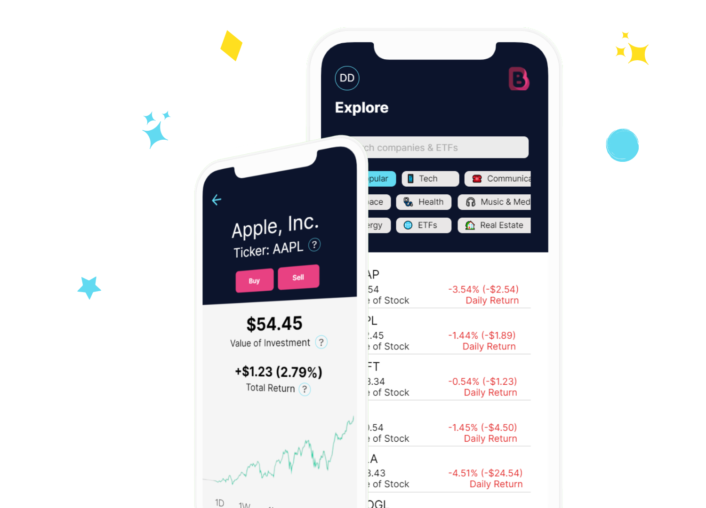 Sample screen from Bumper app