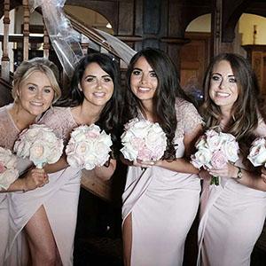 crazy bridesmaids having fun