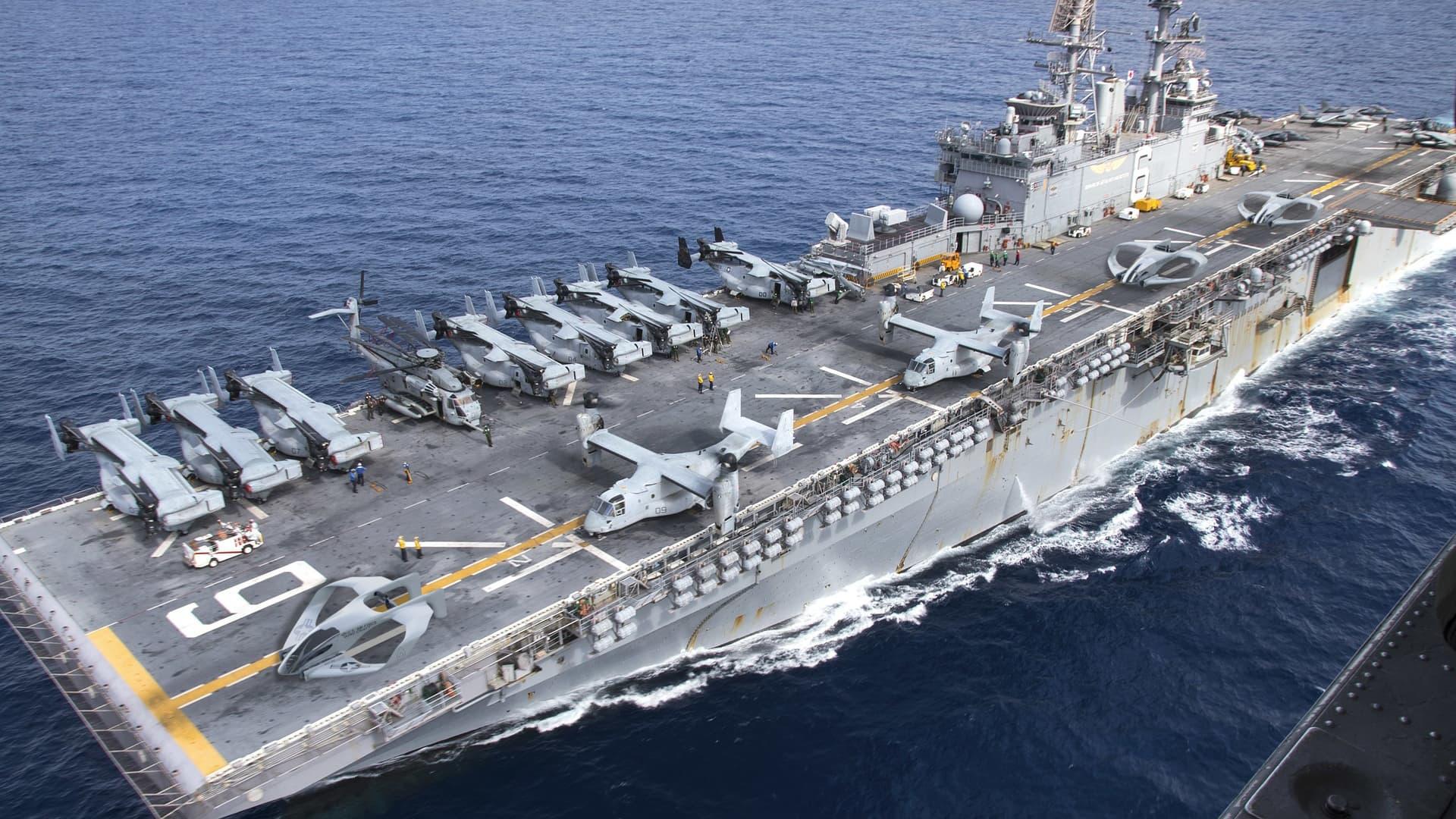 SJX on an aircraft carrier.
