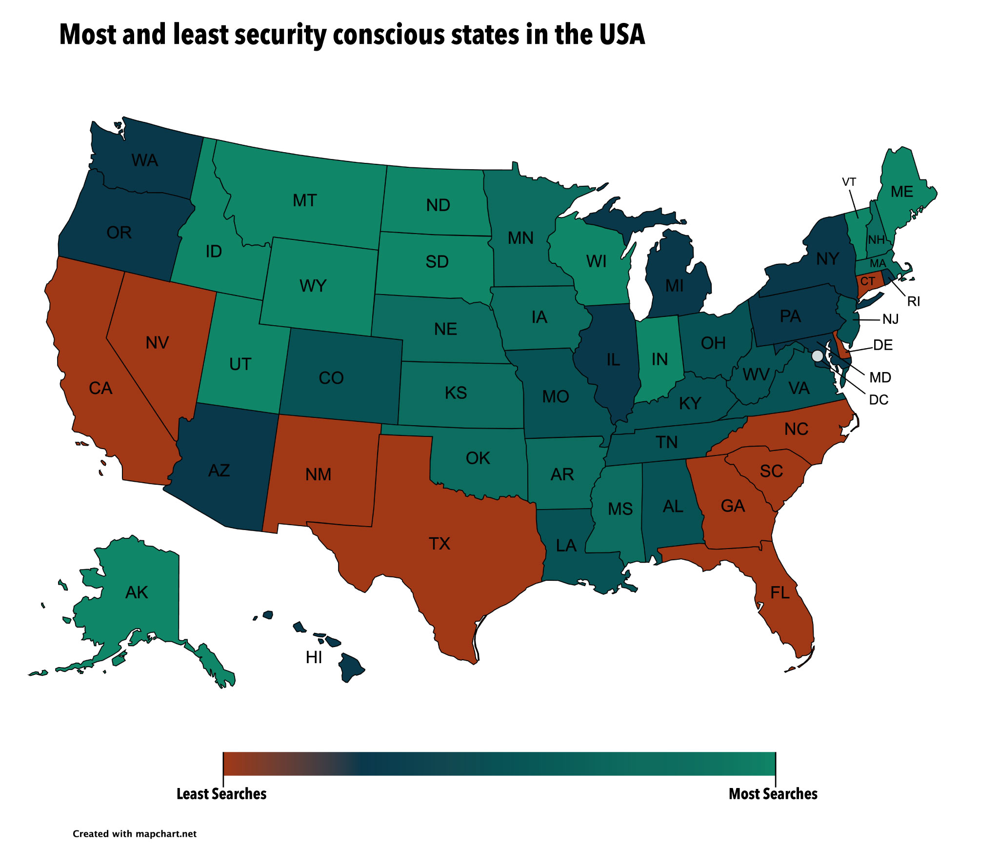 Most and least security concious states USA.jpeg