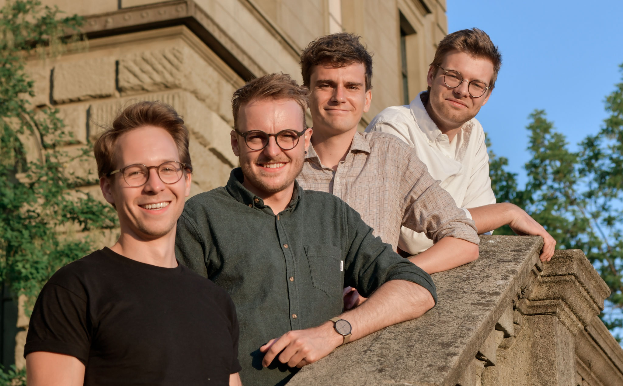 From left: Kevin Anschau Schwarzer, Tobias Stegemann, Joel Bachmann, Carl Biagosch. The Founding Team of the Computer Vision Startup Mantis Technologies at ETH Zurich.
