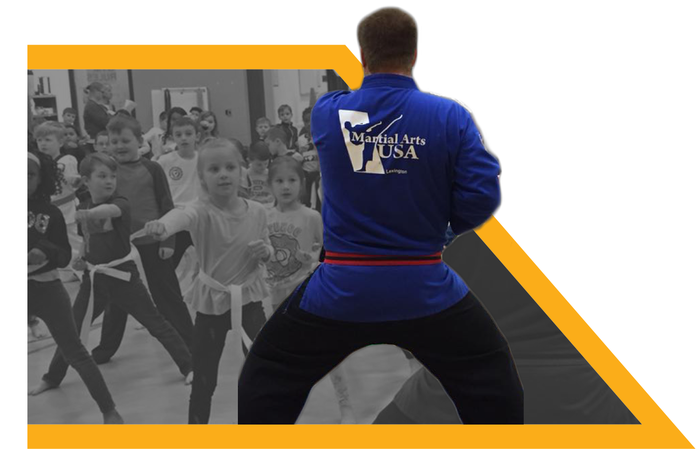 Students learning Martial Arts at school.
