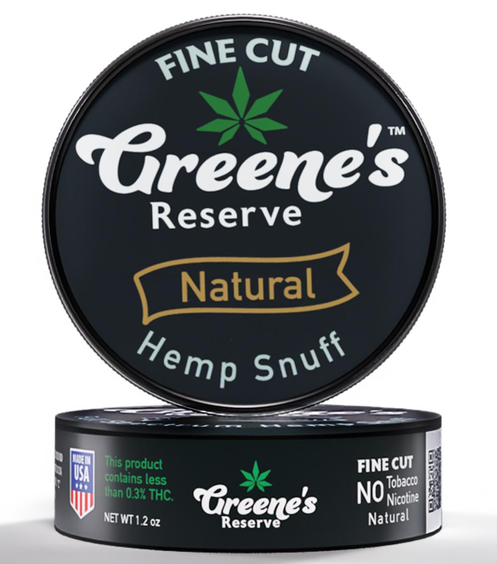 Greene's Reserve Fine Cut Natural Hemp Snuff
