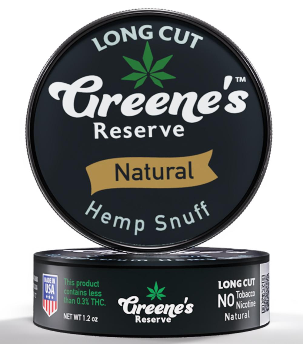 Greene's Reserve Long Cut Natural Hemp Snuff
