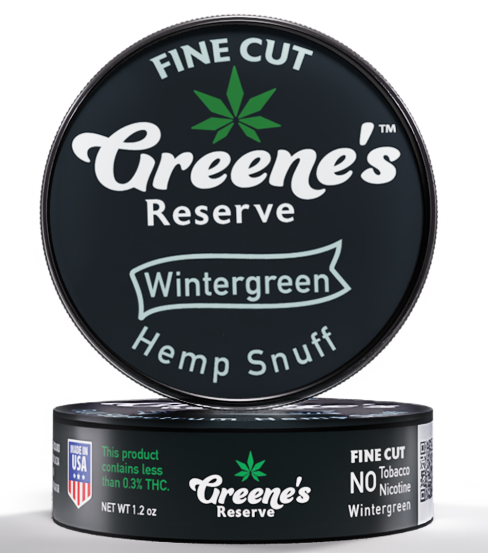 Greene's Reserve Fine Cut Wintergreen Hemp Snuff