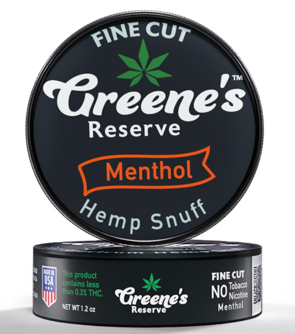 Greene's Reserve Fine Cut Menthol Hemp Snuff