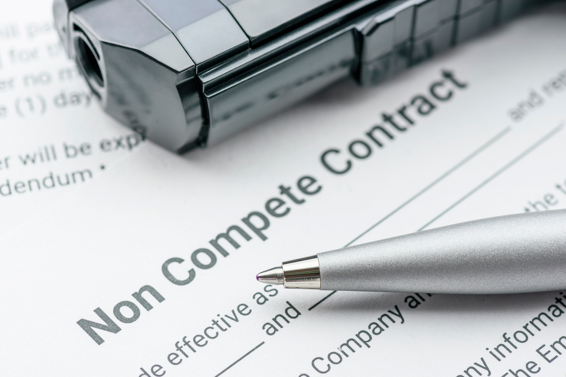 Attorney working for non-compete contract.