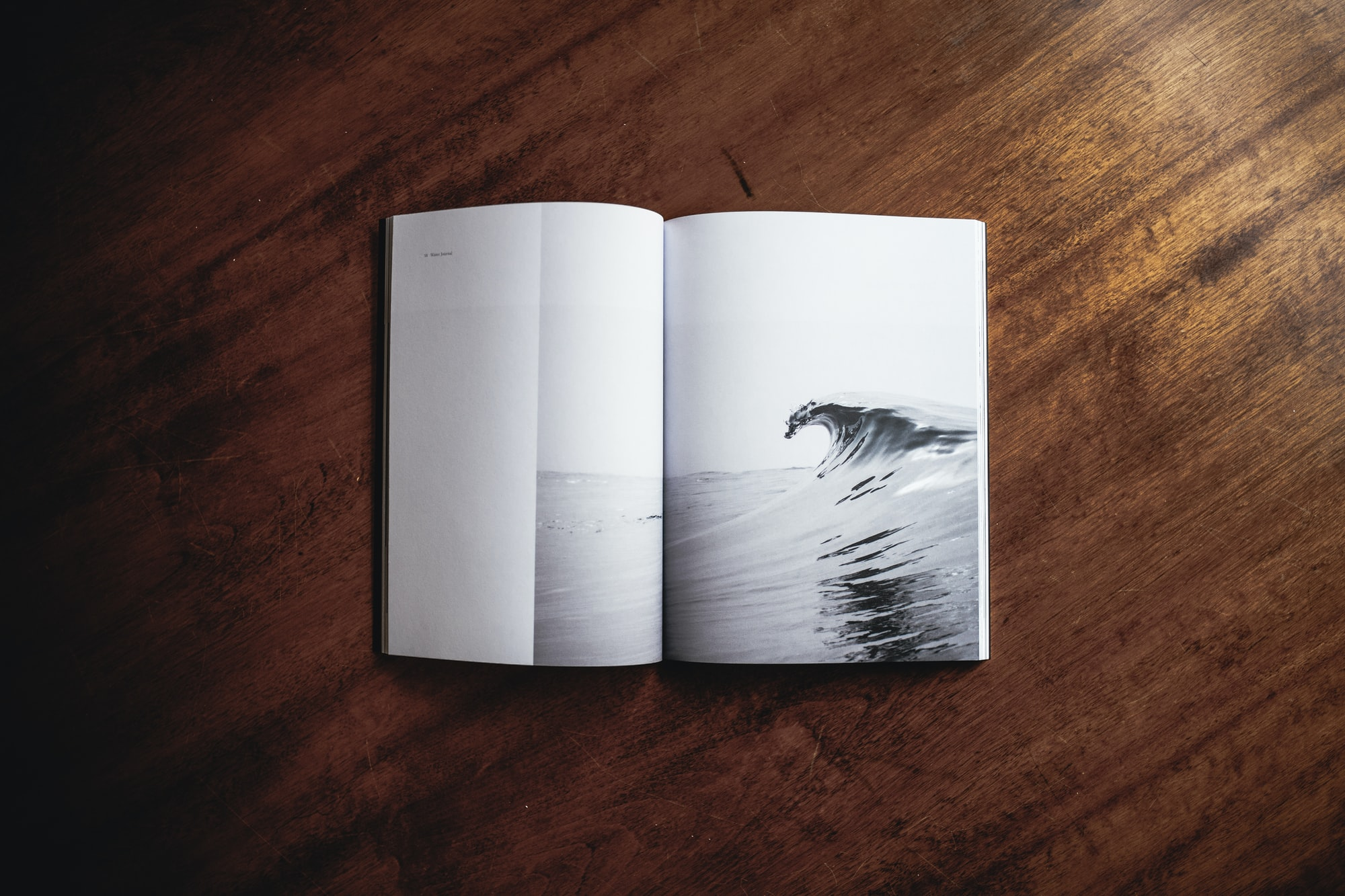 Sea wave book photograph