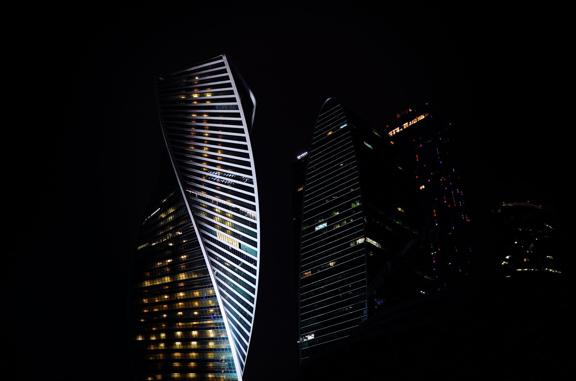 Twisting building facade