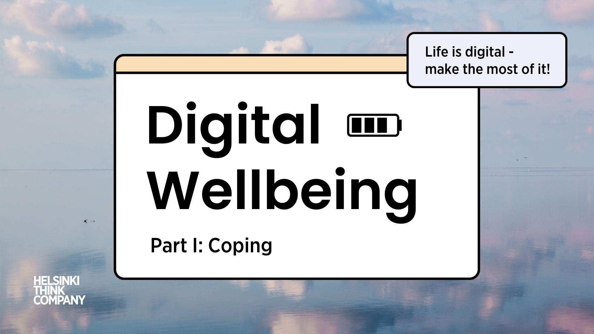 Digital wellbeing event series part 1